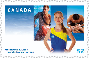 Lifesaving Society Canadian stamp
